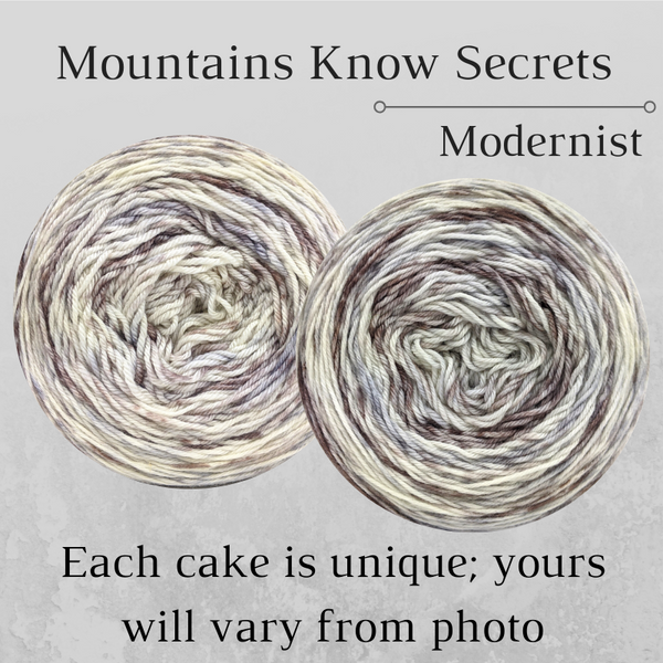 Knitcircus Yarns: Mountains Know Secrets Modernist, dyed to order yarn