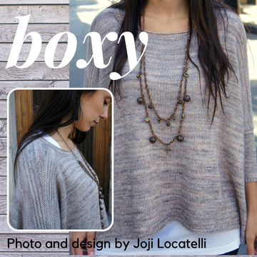 Boxy Sweater Kit, dyed to order