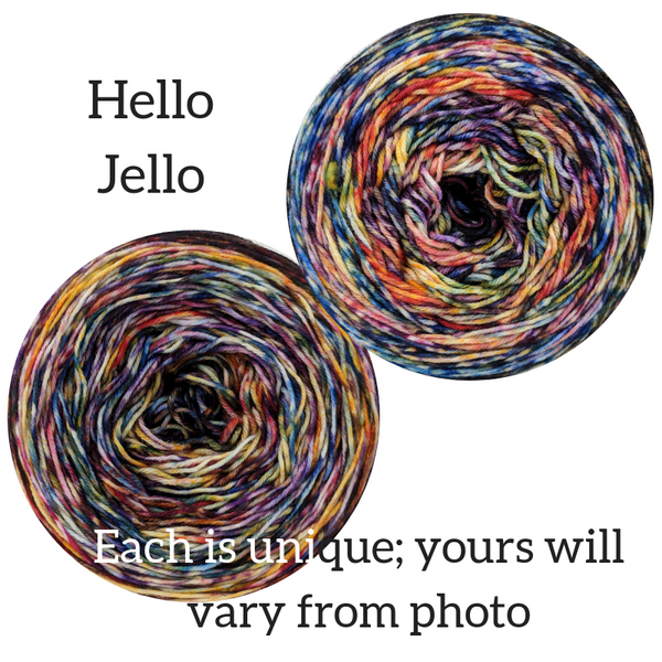 Knitcircus Yarns: Hello Jello Modernist, dyed to order yarn