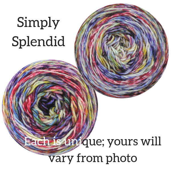 Knitcircus Yarns: Simply Splendid Modernist, dyed to order yarn