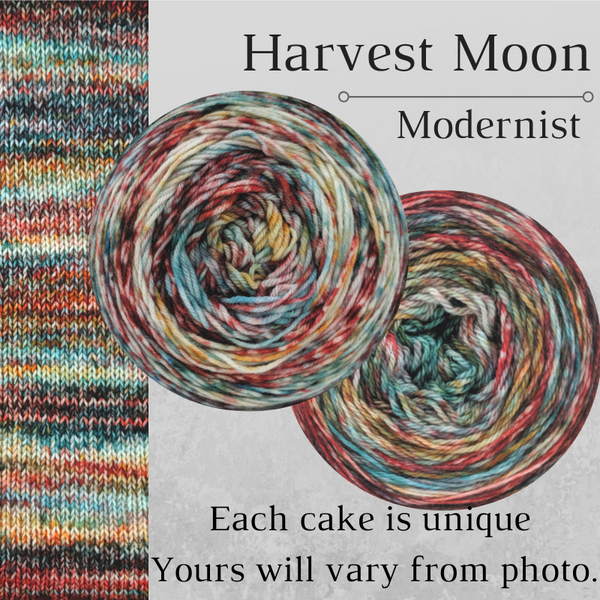 Knitcircus Yarns: Harvest Moon Modernist, dyed to order yarn