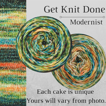 Knitcircus Yarns: Get Knit Done Modernist, dyed to order yarn