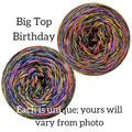 Knitcircus Yarns: Big Top Birthday Abstract, dyed to order yarn
