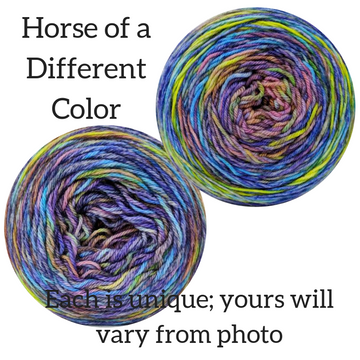 Knitcircus Yarns: Horse of a Different Color Abstract, dyed to order yarn