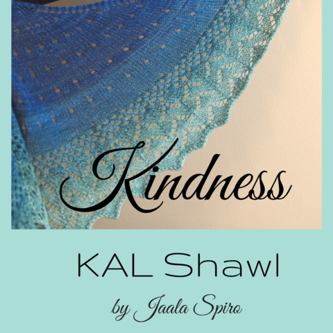 Kindness KAL Shawl Kit, ready to ship