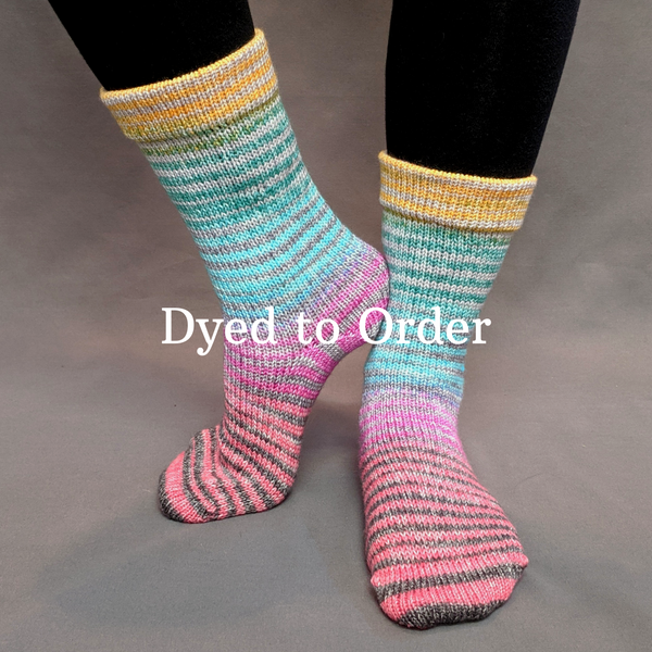 Knitcircus Yarns: Twister Extreme Striped Matching Socks Set, dyed to order yarn