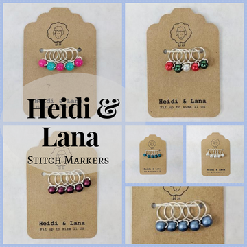 Stitch Markers, set of 5, assorted sizes, ready to ship