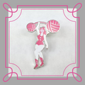 Knitcircus Strongwoman Enamel Pin, ready to ship