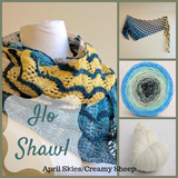Ilo Shawl Yarn Pack, pattern not included, dyed to order
