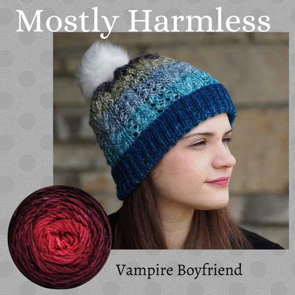 Mostly Harmless Hat Yarn Pack, pattern not included, ready to ship