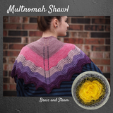 Multnomah Shawl Yarn Pack, pattern not included, dyed to order