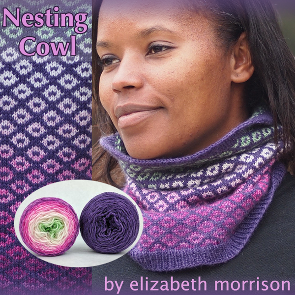Nesting Cowl Yarn Pack, pattern not included, ready to ship