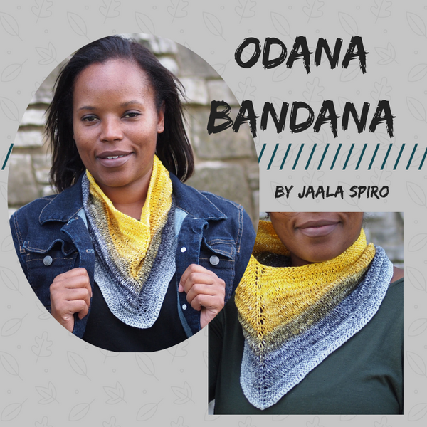 Odana Bandana Yarn Pack, pattern not included, dyed to order