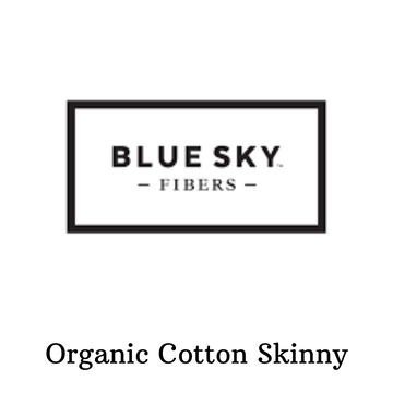 Organic Cotton Skinny by Blue Sky Fibers, assorted colors, ready to ship