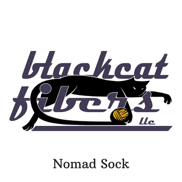 Nomad Sock by Black Cat Fibers, assorted colors, ready to ship - SALE