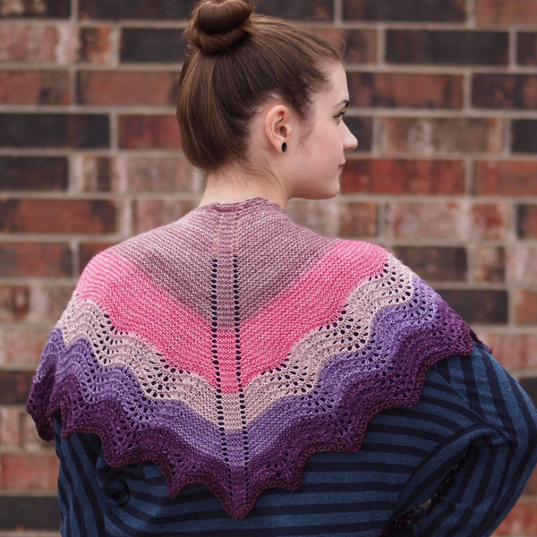 Knitcircus Yarns: Fig and Prosciutto Panoramic Gradient, dyed to order yarn