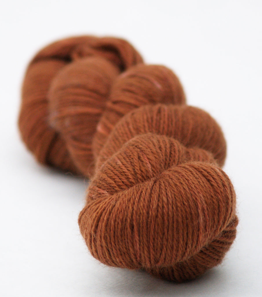 Cider and Cinnamon Kettle-Dyed Semi-Solid skeins, dyed to order