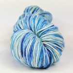 Knitcircus Yarns: Strut Your Stuff 100g Speckled Handpaint skein, Sensational Silk, ready to ship yarn