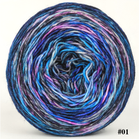 Knitcircus Yarns: Night of a Thousand Stars 100g Modernist, Trampoline, choose your cake, ready to ship yarn