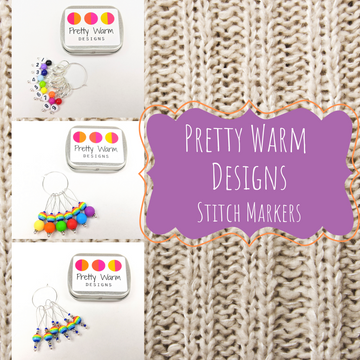 Rainbow Snag Free Stitch Markers, Assorted Sets, Pretty Warm Designs, ready to ship