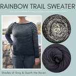 Rainbow Trail Sweater Yarn Pack by Cristina Ghirlanda, pattern not included, dyed to order