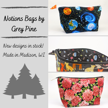 Notions Bags by Grey Pine, ready to ship