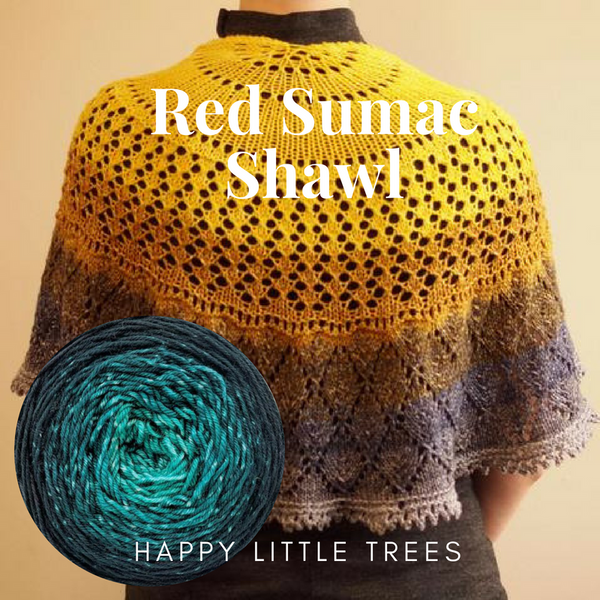 Red Sumac Shawl Yarn Pack, pattern not included, dyed to order