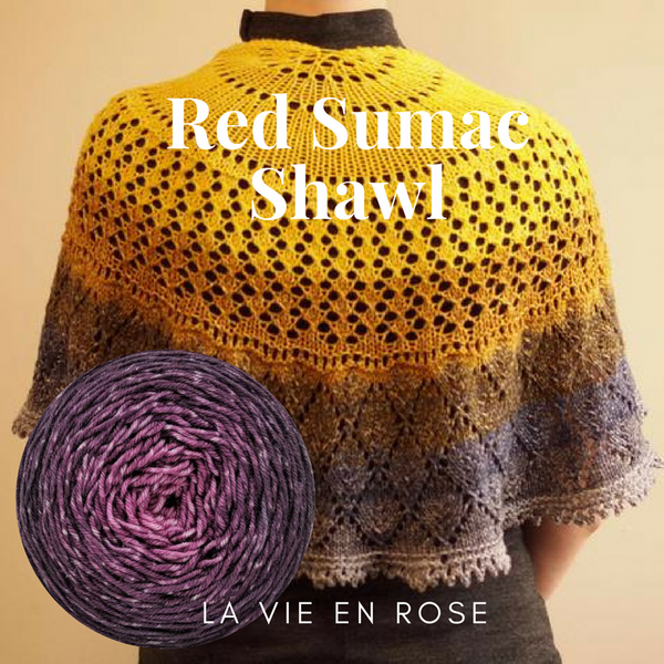 Red Sumac Shawl Yarn Pack, pattern not included, ready to ship