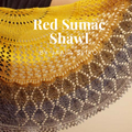 Red Sumac Shawl Kit, ready to ship