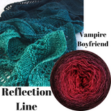 Reflection Line Shawl Yarn Pack, pattern not included, dyed to order