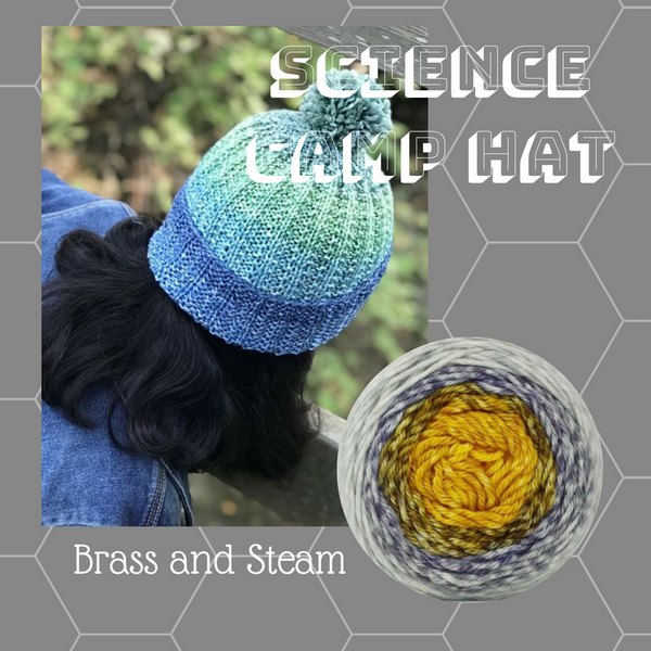Science Camp Hat Yarn Pack, pattern not included, ready to ship