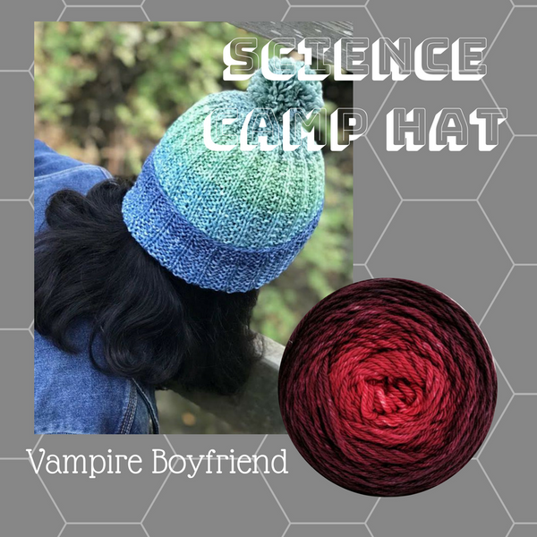 Science Camp Hat Yarn Pack, pattern not included, dyed to order