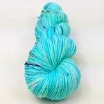 Knitcircus Yarns: We Scare Because We Care Speckled Handpaint Skeins, dyed to order yarn