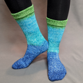 Knitcircus Yarns: Dive Right In Panoramic Gradient Matching Socks Set (large), Greatest of Ease, ready to ship yarn
