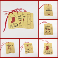 Holiday Gift Tags, set of 10, ready to ship - SALE