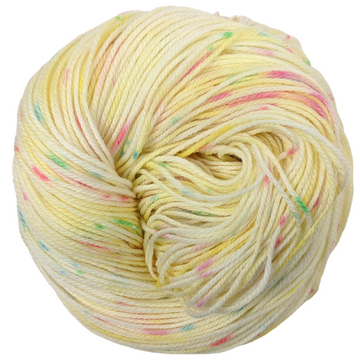 Knitcircus Yarns: Cindy Lou Who 100g Speckled Handpaint skein, Flying Trapeze, ready to ship yarn