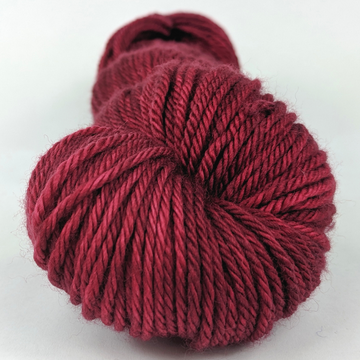 Knitcircus Yarns: Cranberry Sauce 100g Kettle-Dyed Semi-Solid skein, Ringmaster, ready to ship yarn