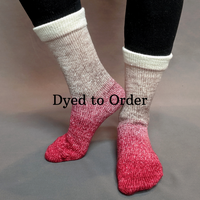 Knitcircus Yarns: Old Saint Nick Panoramic Gradient Matching Socks Set, dyed to order yarn