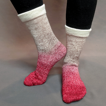 Knitcircus Yarns: Old Saint Nick Panoramic Gradient Matching Socks Set (large), Greatest of Ease, ready to ship yarn