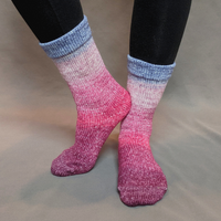 Knitcircus Yarns: Paris is Always a Good Idea Panoramic Gradient Matching Socks Set, dyed to order yarn