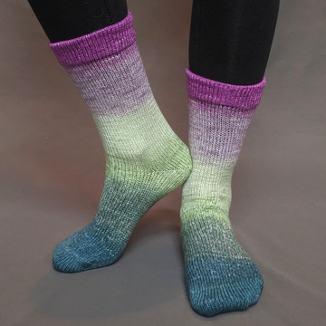 Knitcircus Yarns: Never Enough Knitting Panoramic Gradient Matching Socks Set (medium), Greatest of Ease, ready to ship yarn