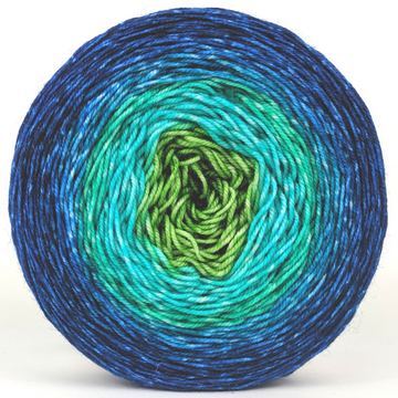 Knitcircus Yarns: Dive Right In 150g Panoramic Gradient, Trampoline, ready to ship yarn