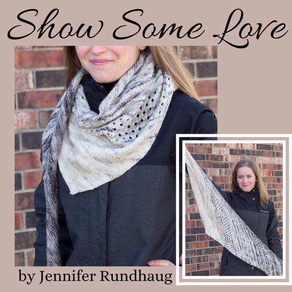 Show Some Love Shawl Yarn Pack, pattern not included, dyed to order