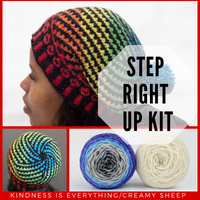 Step Right Up Hat Yarn Pack, pattern not included, ready to ship