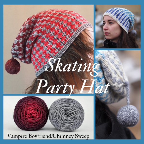 Skating Party Hat Yarn Pack, pattern not included, dyed to order