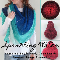 Sparkling Water Shawl Yarn Pack, pattern not included, dyed to order