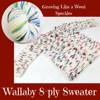 Wallaby 8ply DK Baby Cardigan Kit, dyed to order