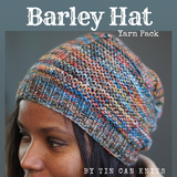 Barley Hat Yarn Pack, pattern not included, Abstract, dyed to order