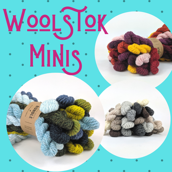 Woolstok Worsted Mini Skein Bundle by Blue Sky Fibers, assorted colors, ready to ship