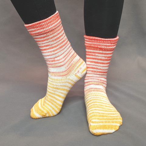 Candy Corn Gradient Striped Matching Socks Set (medium), Greatest of Ease, ready to ship - SALE